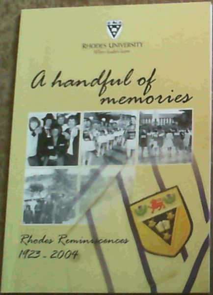 Image for A Handful of Memories: Rhodes Reminiscences 1923 - 2004
