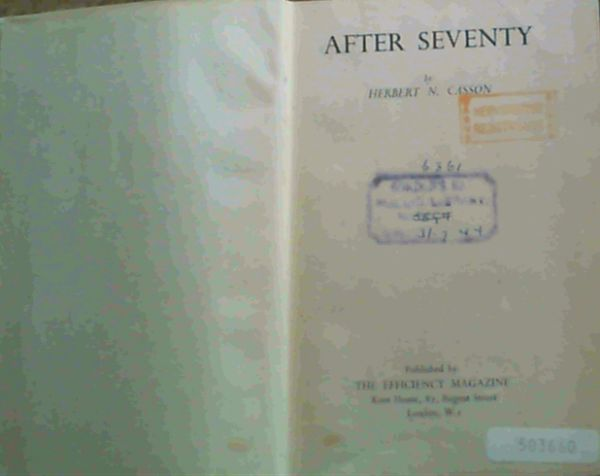 Image for After Seventy