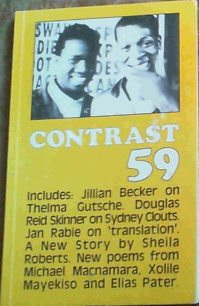Image for Contrast - South African Literary Journal 59 - July 1985 volume 15 No 3