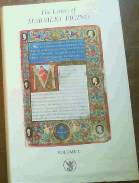 Image for The Letters of Marsilio Ficino: Volume 1
