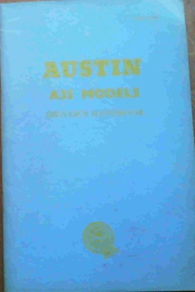 Image for Austin A35 Models Driver's Handbook (AKD 1473B)