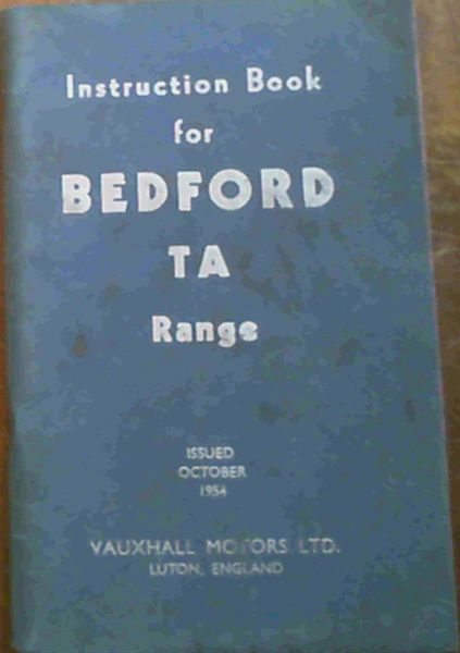 Image for Instruction Book for Bedford TA Range