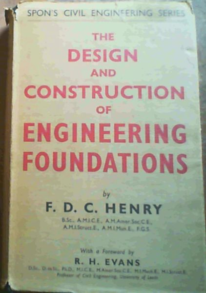 Image for The Design & Construction Of Engineering Foundations