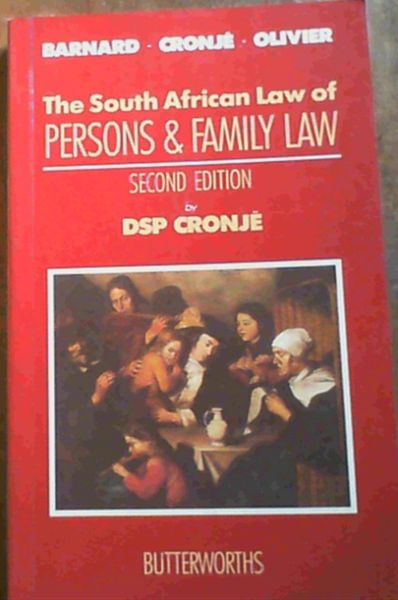 Image for South African Law of Persons and Family Law