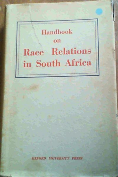 Image for Handbook On Race Relations In South Africa