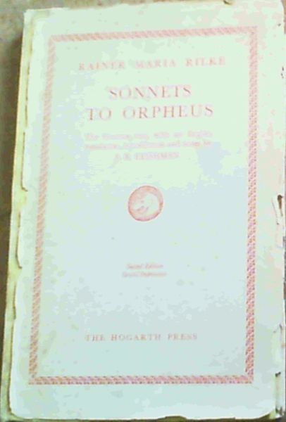 Image for Sonnets To Orpheus;The German text with an English translation