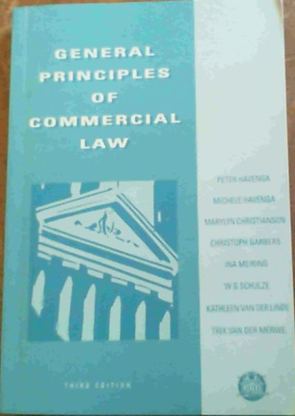 Image for General Principles of Commercial Law