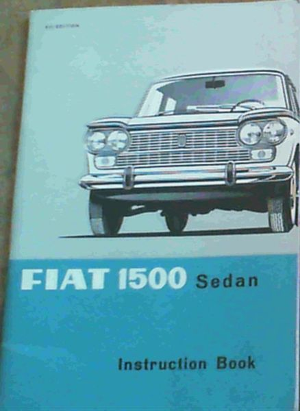 Image for Fiat 1500 Sedan - Instruction Book
