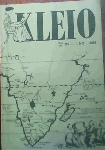 Image for Kleio Vol. XV 1983 Journal of the Department of History