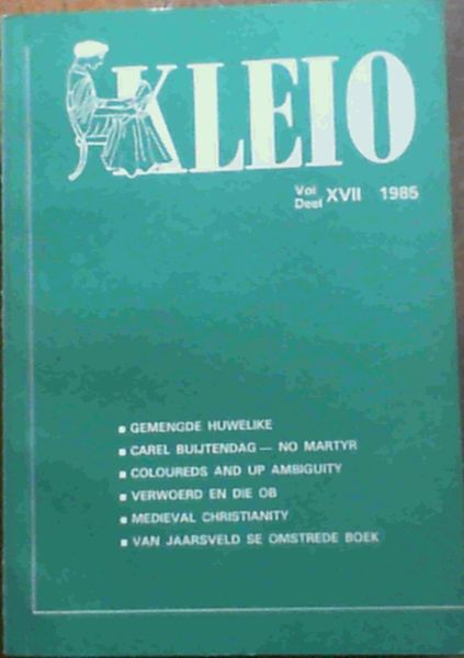 Image for Kleio Vol. XVII 1985 Journal of the Department of History