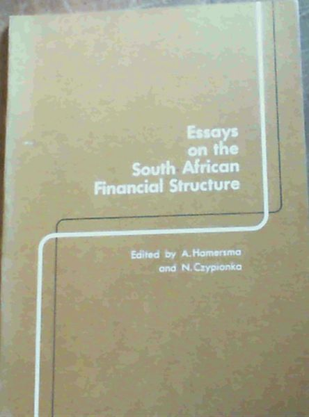 Image for Essays on the South African Financial Structure