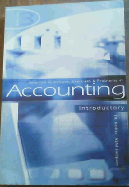 Image for Selected Questions, Exercises and Problems in Accounting Introductory