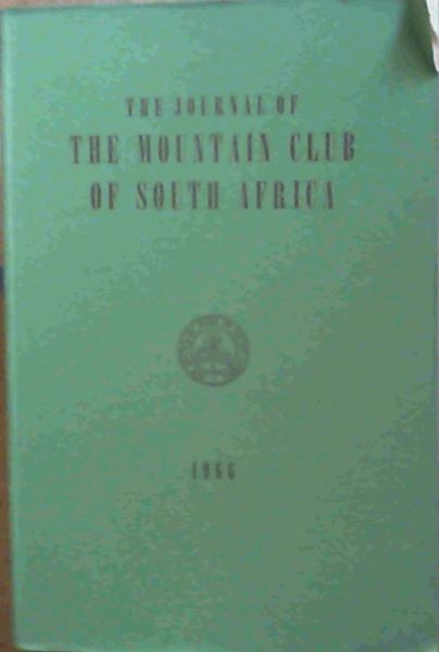 Image for The Journal of The Mountain Club of South Africa 1966