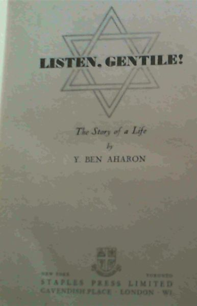 Image for Listen, Gentile ! The Story of a Life