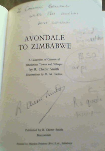 Image for Avondale to Zimbabwe - a Collection of Cameos of Rhodesian Towns and Villages