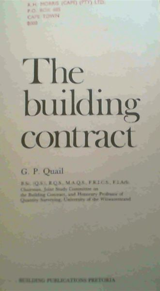 Image for The Building Contract