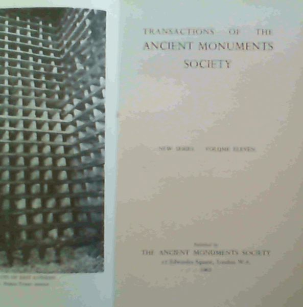 Image for Transactions of the Ancient Monuments Society - New Series. Volume Eleven