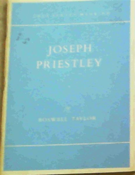 Image for Joseph Priestley : The Man of Science (They Served Mankind 3)