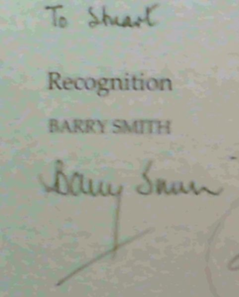 Image for Recognition: Poems by Barry Smith