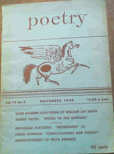 Image for Poetry : Vol 73 no. 2 November 1948