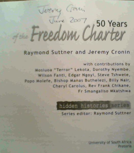 Image for 50 Years of the Freedom Charter (Hidden Histories Series)