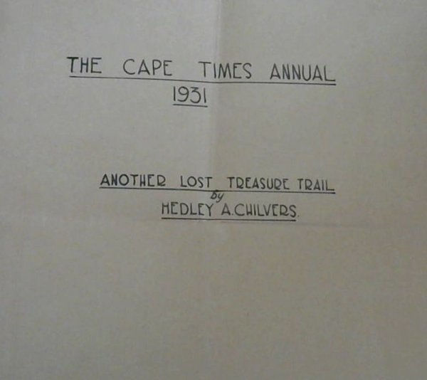 Image for Another Lost Treasure Trail - The Cape Times Annual 1931