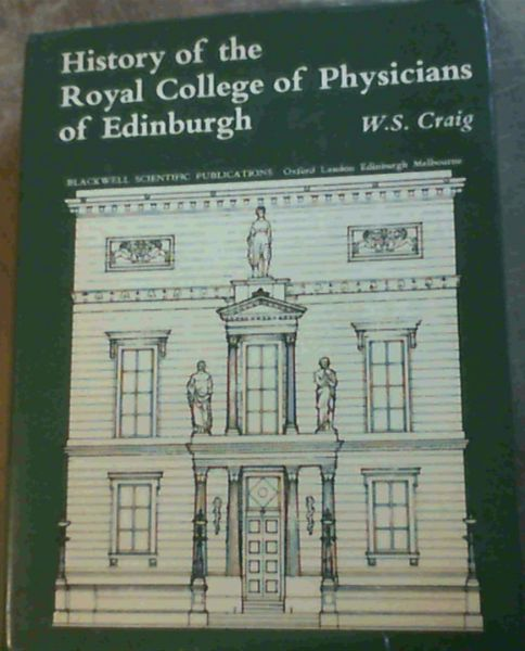 Image for History of the Royal College of Physicians of Edinburgh
