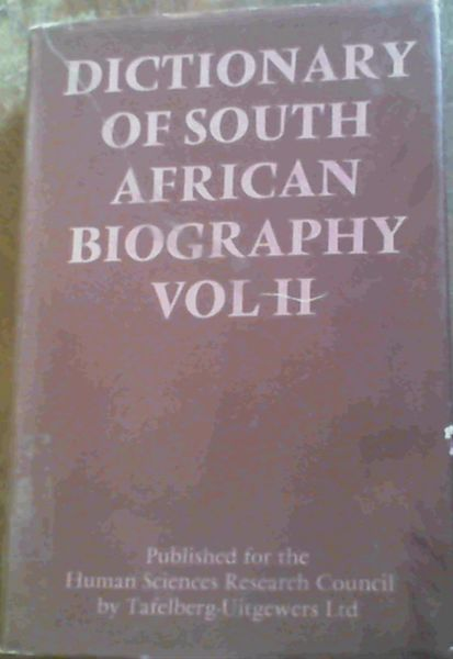 Image for Dictionary of South African Biography: Vol 2