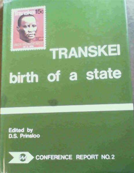 Image for Transkei, birth of a state (FAA conference report ; no. 2)