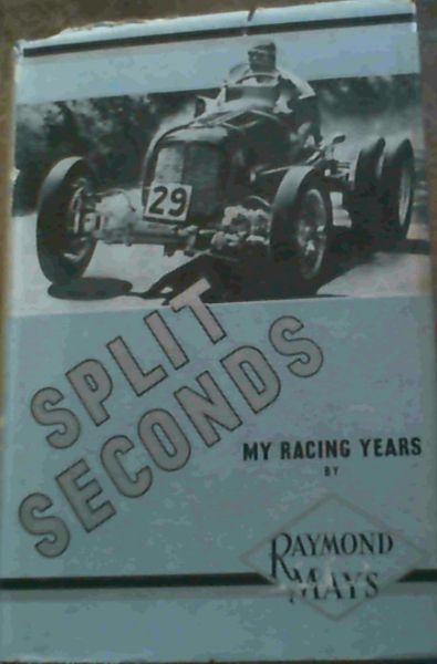 Image for Split Seconds - My Racing Years