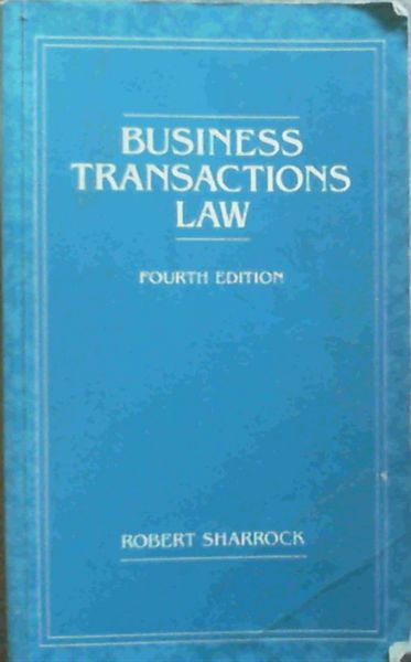 Image for Business Transactions Law