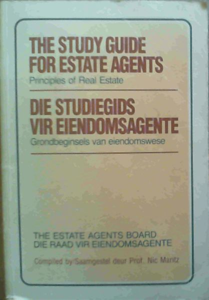 Image for The Study Guide for Estate Agents : Principles of Real Estate