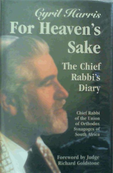 Image for For Heaven's Sake : The Chief Rabbi's Diary