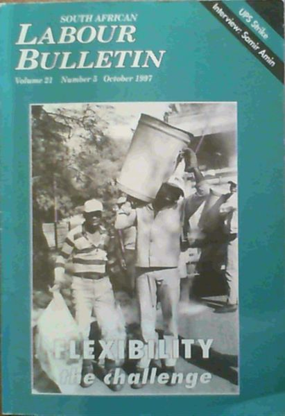 Image for South African Labour Bulletin Volume 21 Number 5 October 1997