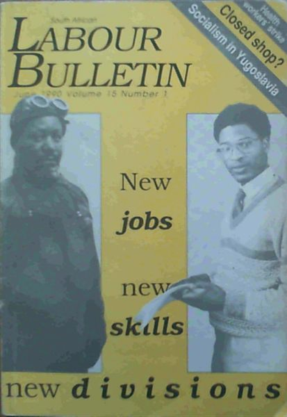 Image for South African Bulletin June 1990 Volume 15 Number 1