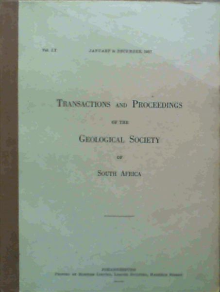 Image for Transactions and Proceedings of the Geological Society of South Africa - January to December 1957