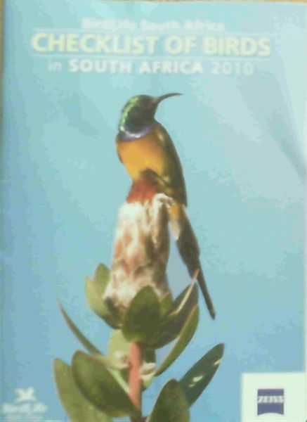 Image for Checklist of Birds in South Africa 2010
