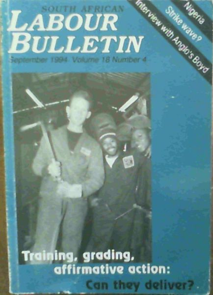 Image for South African Labour Bulletin vol 18 No 4 September 1994