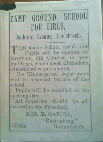 Image for Dear Old School. A History of Oakhurst Girls' School, Rondebosch, Published on the Occasion of the School's 75th Anniversary