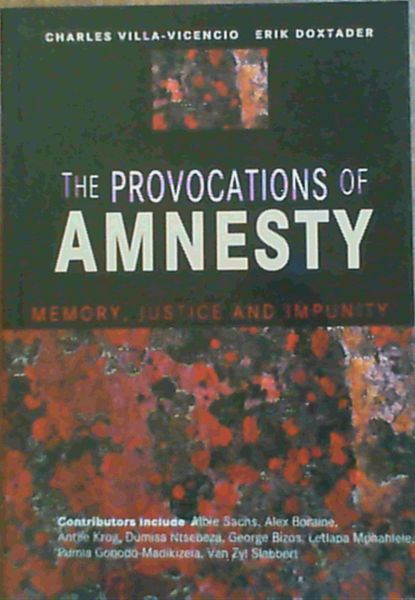 Image for The Provocations of Amnesty : Memory, Justice and Impunity