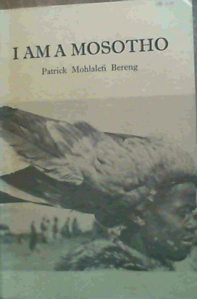Image for I Am a Mosotho