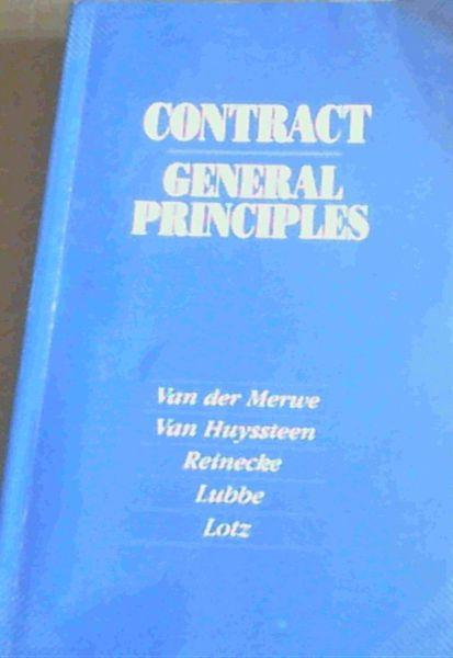 Image for Contract - General Principles