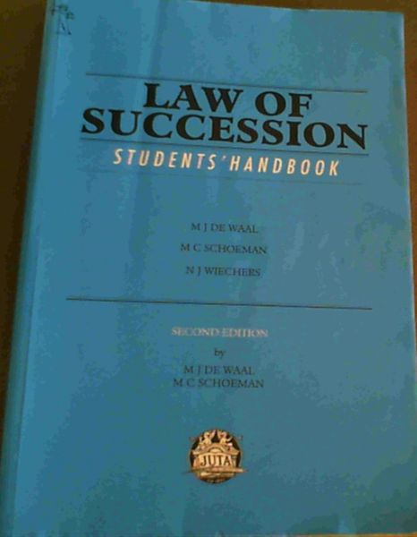 Image for Law of Succession: Student's Handbook