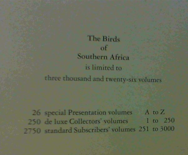 Image for The Birds of Southern Africa