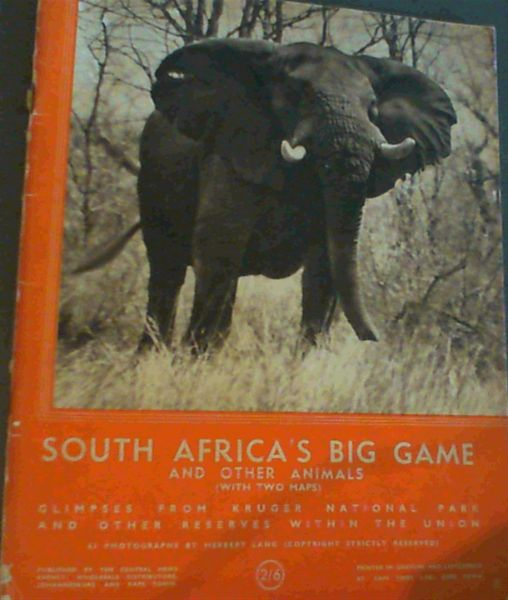 Image for South Africa's Big Game & Other Animals [With Two Maps]