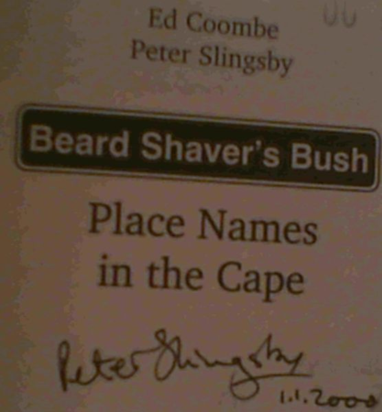 Image for Beard shaver's bush: Place names in the Cape