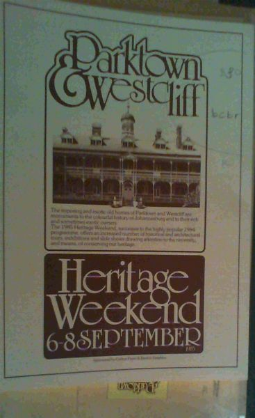 Image for Parktown Westcliff Heritage - collection of 16 publications