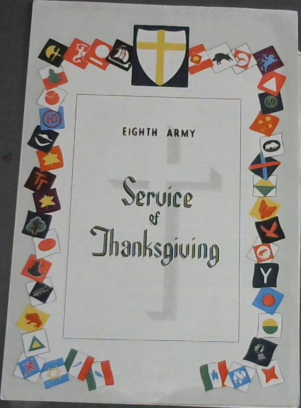 Image for Eighth Army : Service of Thanksgiving (Service Sheet)