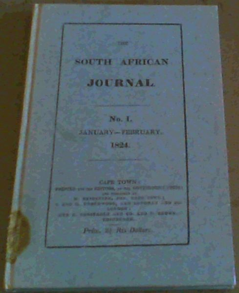 Image for The South African Journal Number 1 , January - February 1824