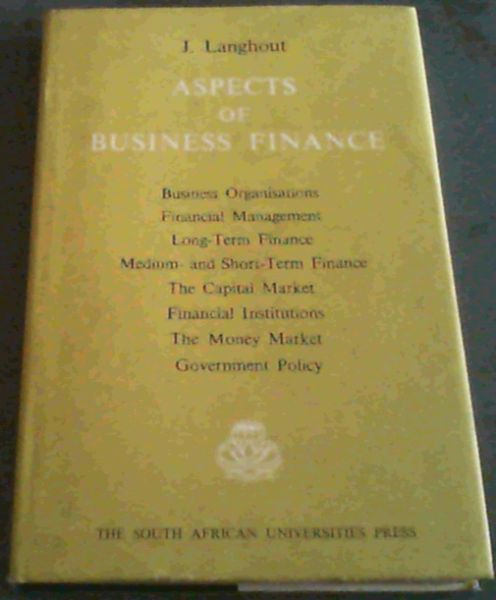 Image for Aspects  Of  Business  Finance